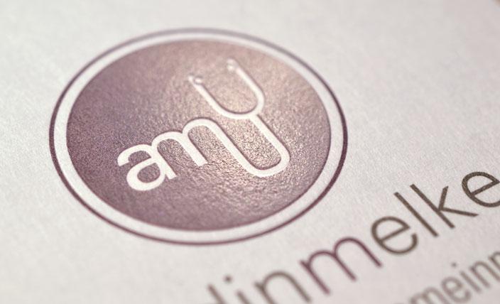 Logo Innenbereich mit Heißfolienprägung